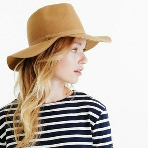 J. Crew Wide Brimmed Italian Wool Felt Hat (NWOT)